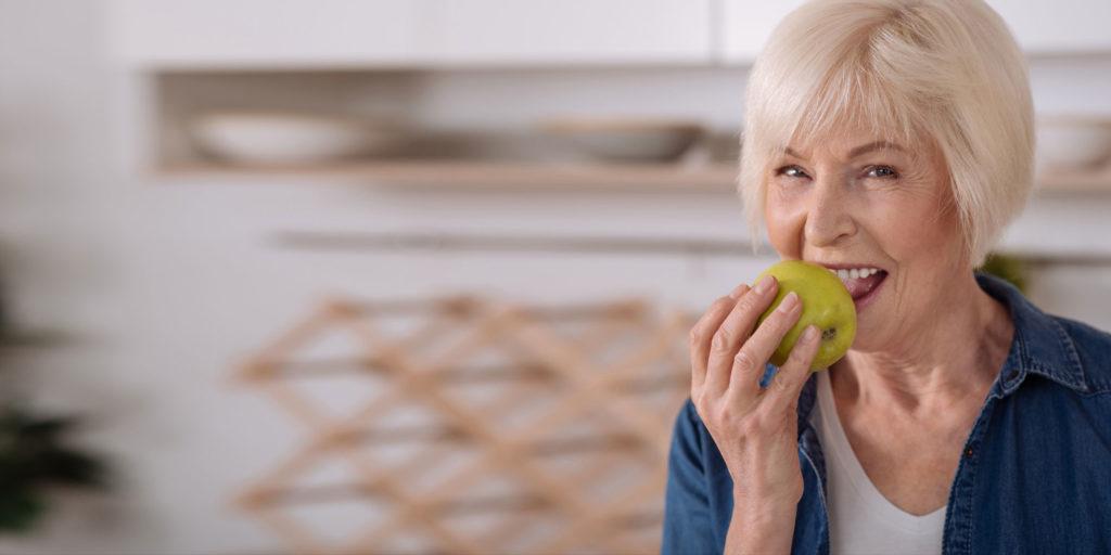 zirconia dental implants patient eating
