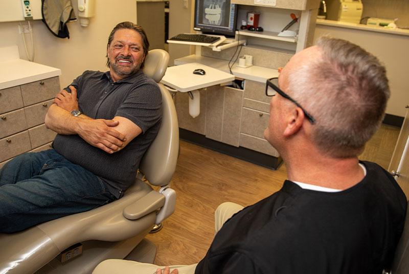 Brett full mouth implant patient